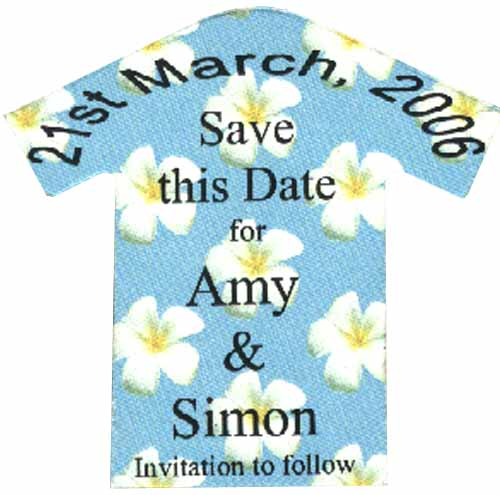 T Shirt Save The Date Magnet Hayfords Wedding Stationery